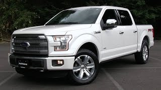 10. 2015 Ford F-150 Platinum FX4 Start Up, Test Drive, and In Depth Review