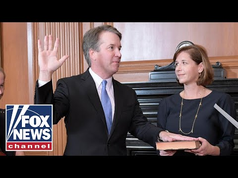 Justice Kavanaugh Is Sworn In By President Trump
