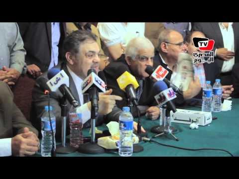 هتافات معارضة لرئيس الوفد و«البدوي» يرد: «سيبوهم يهتفوا»