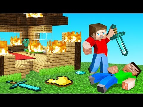He DESTROYED His OWN MINECRAFT House (He Died)