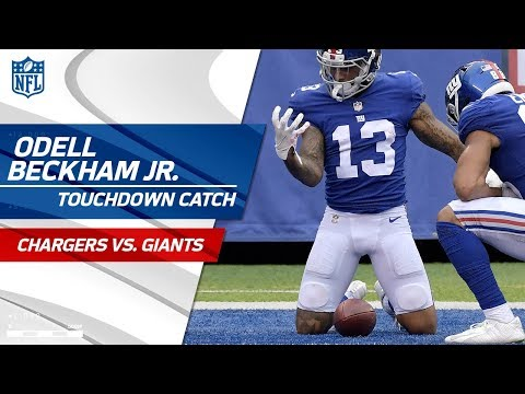 Video: Odell Beckham Jr. Catches TD & Gives the Ball CPR to Celebrate! | Chargers vs. Giants | NFL Wk 5