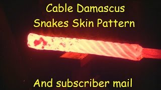 Video Blacksmithing / forging cable Damascus MP3, 3GP, MP4, WEBM, AVI, FLV Februari 2019
