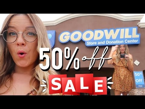 SIZE 12 GIRL TRIES GOODWILL 50% OFF SALE