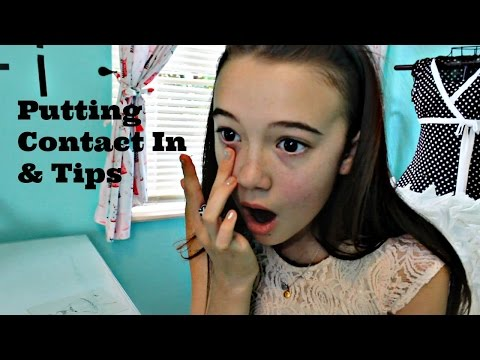 Putting My Contacts In for the First Time! (Tips)   Fiona's Fresh Face   Fiona Frills