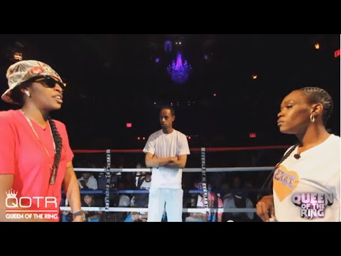 ring - This battle was 3 yrs in the making. Gattas(Chicago/Indianapolis) vs E Hart (Yonkers/Bronx) Both ladies are super stars in their own right. This back and forth build up lead to Q.O.T.R.