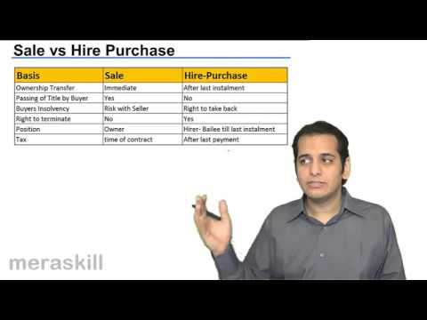 Sale vs Heir Purchase | Formation of the Contract of Sale | CA CPT | CS & CMA Foundation