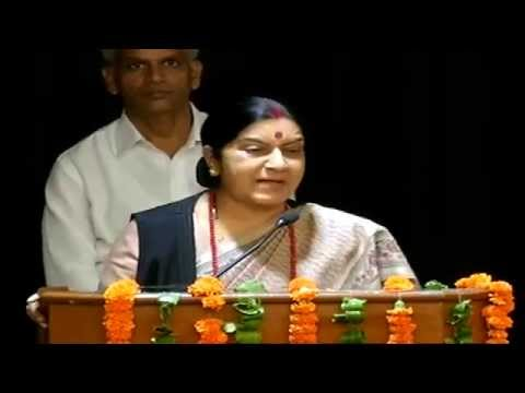 Smt. Sushma Swaraj addresses BJP Mahila Morcha National Executive Meeting at NDMC Centre: 25.07.2014