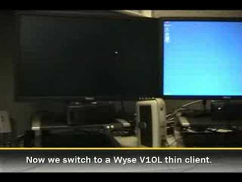 Comparison of user-experience when viewing rich multimedia on a Wyse V10L thin client and a HP t5730