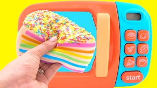 Video Toy Microwave Squishy Rainbow Cake Play Doh Learn Fruits & Vegetables with Velcro Toys for Kids MP3, 3GP, MP4, WEBM, AVI, FLV Desember 2017
