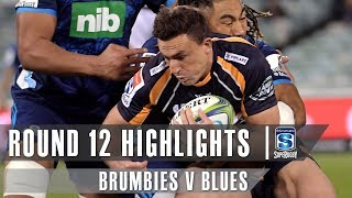 Brumbies v Blues Rd.12 2019 Super rugby video highlights | Super Rugby Video Highlights