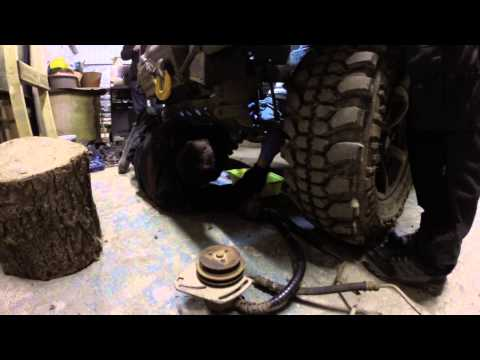 Me fixing landrover defender 90 offroading wales