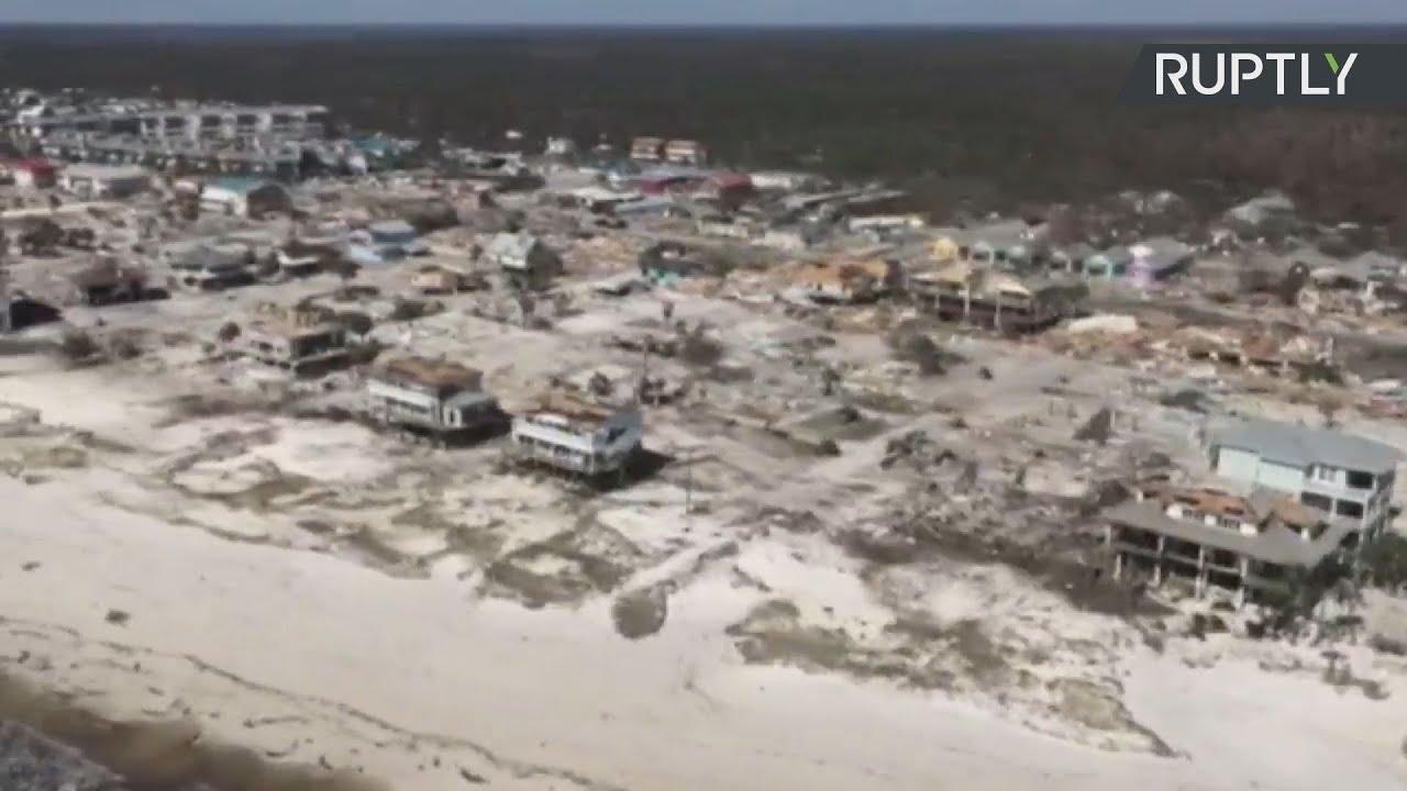 Πεσμένα δέντρα, κατεστραμμένα σπίτια: τα επακόλουθα του τυφώνα Μιχαήλ