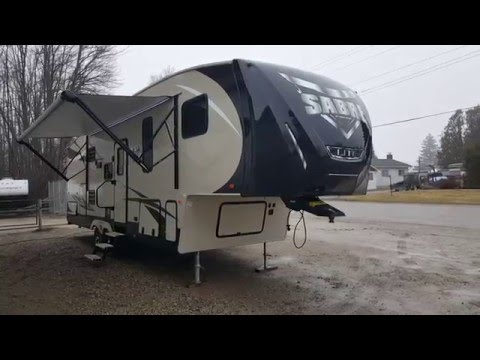 2016 Sabre Lite 28BH Luxury Ultra Lite 2 Bedroom 5th Wheel Trailer @ Camp-Out RV in Stratford