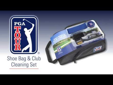 PGA Tour Shoe Bag and Cleaning Accessories Set