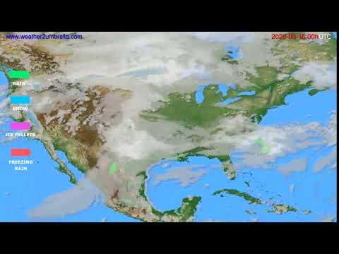 Precipitation forecast USA & Canada // modelrun: 00h UTC 2020-03-15