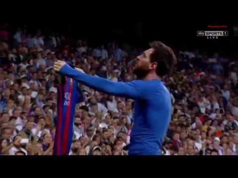 REAL MADRIT VS FC BARCELONA 2:3   AMAZING GOAL BY LEO MESSI   EL CLASICO SANTIAGO BERNABEU