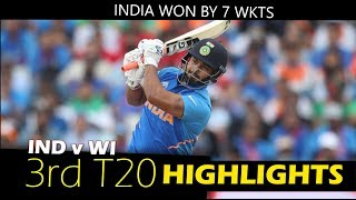 INDIA vs West Indies 3rd T20 Full Match Highlights 2019 HD !
