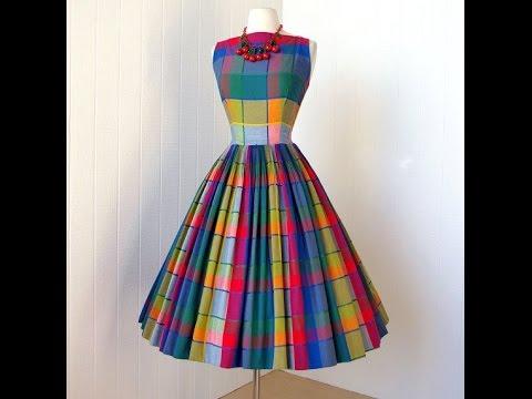 Платье 60-х годов с пышной юбкой своими руками 20