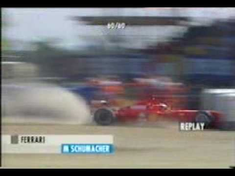 michael schumacher incidente a silverstone 1999