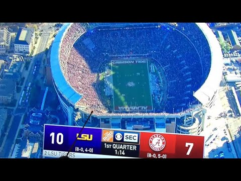 Alabama fans reaction to LSU beating Alabama