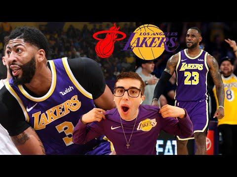 THE BEST TEAM IN BASKETBALL BY FAR.. LAKERS VS HEAT HYPE REACTION!