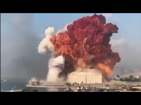 L EXPLOSIN 💥 D UNE GROS DÉPÔT DE FEU D ARTIFICES AU LIBAN