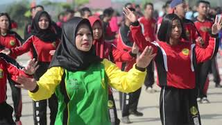 Pemecahan REKOR MURI Tari Gemu Fa Mi Re. Dalam rangka HUT ke 73 TNI Tahun 2018 Kodim 1204/Sanggau