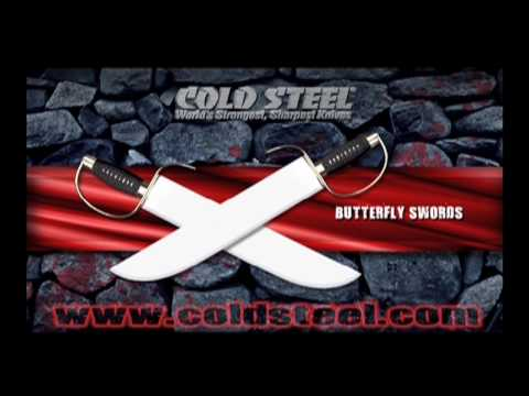 Cold Steel - Cold Steel Butterfly Swords. *Meats utilized in this video was carefully preserved and donated to the Ventura County Rescue Mission. For a FREE color catalog...