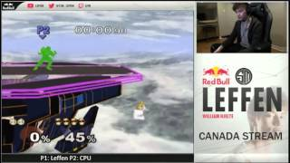 Leffen shows off Peach techs/movement options. Simultaneously takes a jab at Peach mains for not labbing her ledge options.