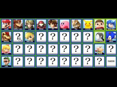Super Smash Bros. for 3DS/WiiU Character Roster Prediction by Deth280483