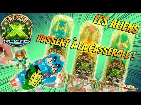 Tresor X Aliens Je trouve Un Rare! On Dissèque 3 Extraterrestres Chasse à la Gemme Moose Toys