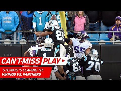 Video: Newton's Sick Juke & Run Set Up Stewart's Leaping TD Blast! | Can't-Miss Play | NFL Wk 14 Highlights