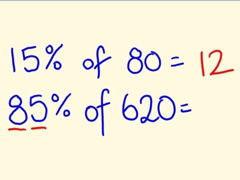 how to get percentage