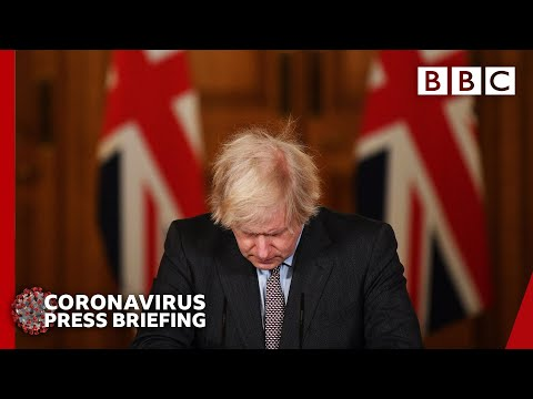 Covid-19: Boris Johnson 'deeply sorry' as UK deaths exceed 100,000 🔴 @BBC News live - BBC