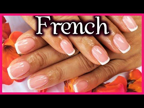 Videos de uñas - Francés semipermanente para principiantes - Gel polish french Manicure