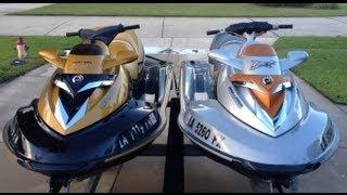 10. 2007 Seadoo Rxt 215 vs 2008 Seadoo Rxt X 255 Drag Race