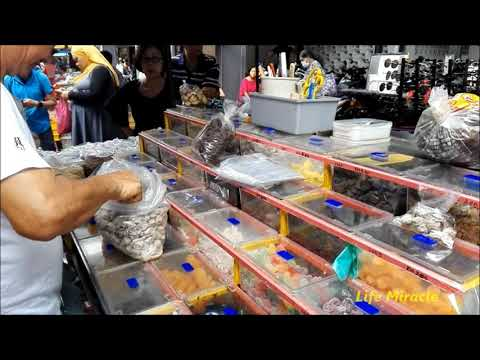 槟城唐人街美食街吉灵万山巴刹 Malaysia Penang Chinatown Best food street Chowrasta M… видео
