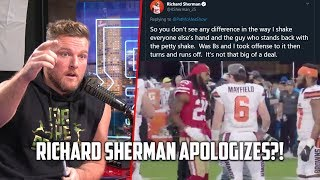 Richard Sherman APOLOGIZES To Baker Mayfield For DapGate Controversy