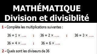 Maths 6ème - Division et divisibilité Exercice 1