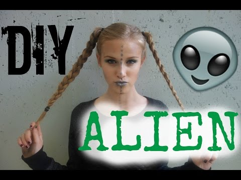 DIY Alien Costume: Hair, Makeup, & Outfit!
