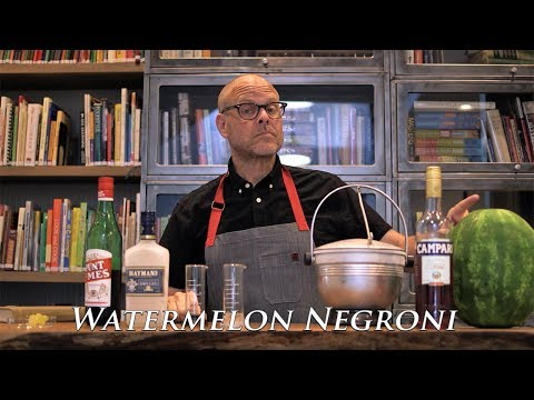 How to Make a Single Serving of a Watermelon Negroni