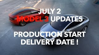 Model 3 Production starts this week and the delivery date is announced!Our Patreon page:http://patreon.com/model3ownersclubShop for Model 3 Shirts:https://model3ownersclub.com/shopOur Gear:SONY FDR-AX33 4K camcorderZoom H6 Audio recorderApple Final Cut Pro XNOTE: Federal law allow citizens to reproduce, distribute , or exhibit portions of copyrighted material. This is called fair use and is allowed for the purpose of criticism, news reporting, teaching, and parody which doesn't infringe of copyright under 17 USC 107.