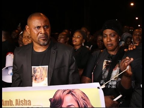 Saidi Balogun, Aisha Abimbola's brothers and sisters in tears as they mourn at her Candle Night (видео)