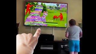 little kid hacks fortnite...then this happens