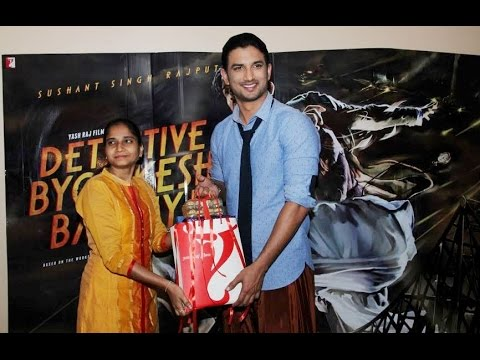 Sushant Singh Rajput Meet The Winner Of Detective Bomkesh Bakshy Contest