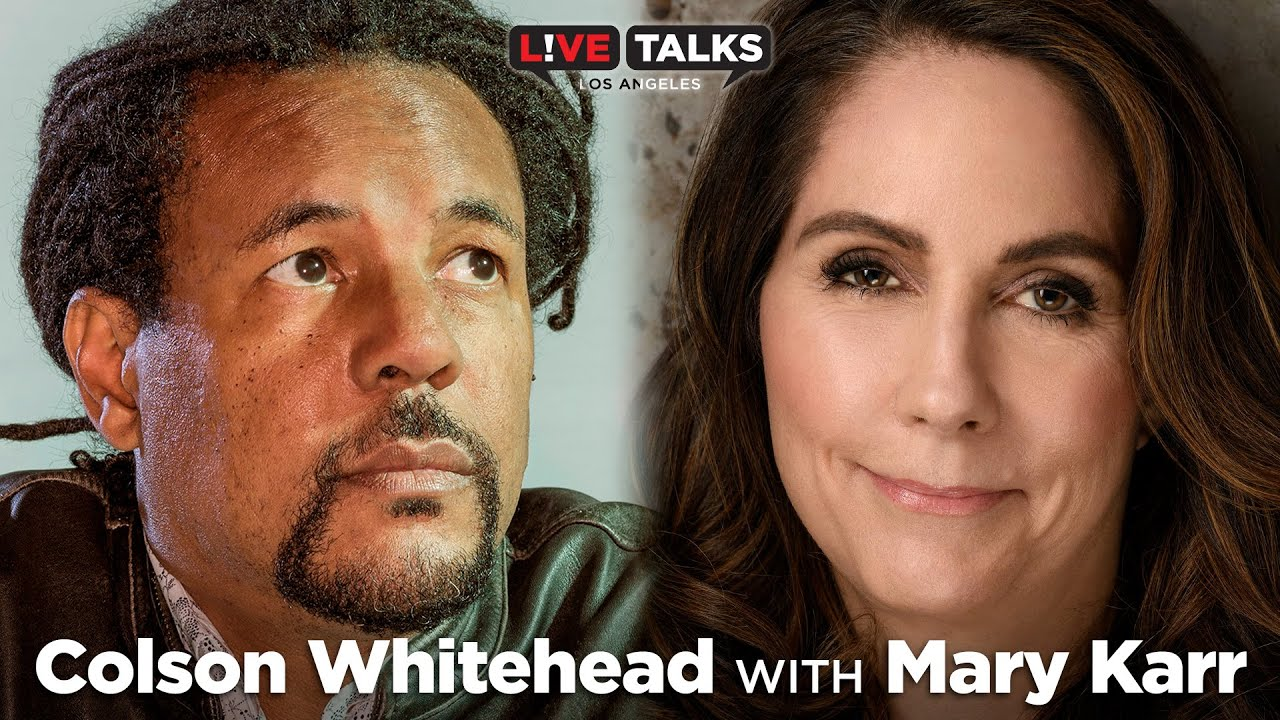 Colson Whitehead in conversation with Mary Karr at Live Talks Los Angeles