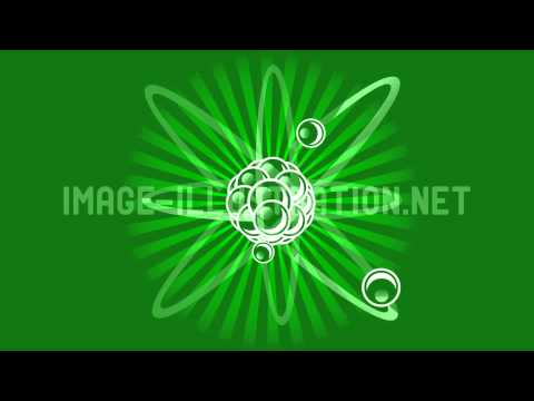 Atom with Nucleus and Protons and Electrons that Revolves Around
