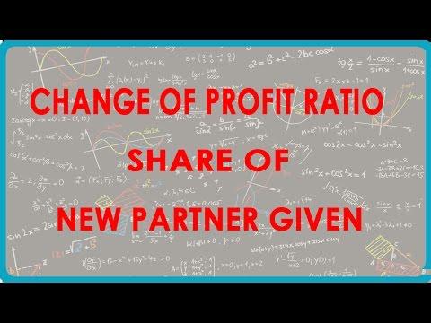 1064. Änderung der Profit-Verhältnis Anteil der neuen Partner gegeben