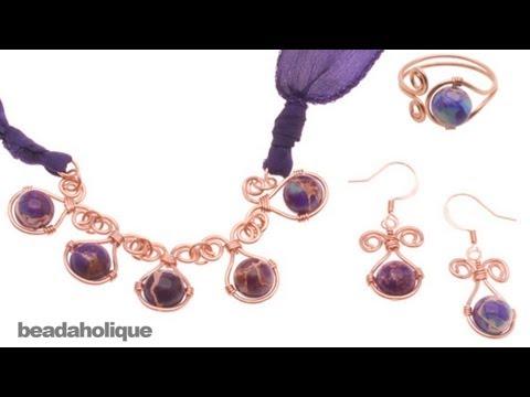 How to Make a Wire Wrapped Gemstone Jewelry Set