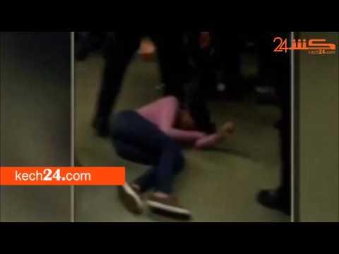 العرب اليوم - شاهد: لقطات مروعة لمدرس يٌعذب تلميذة داخل الفصل في مراكش